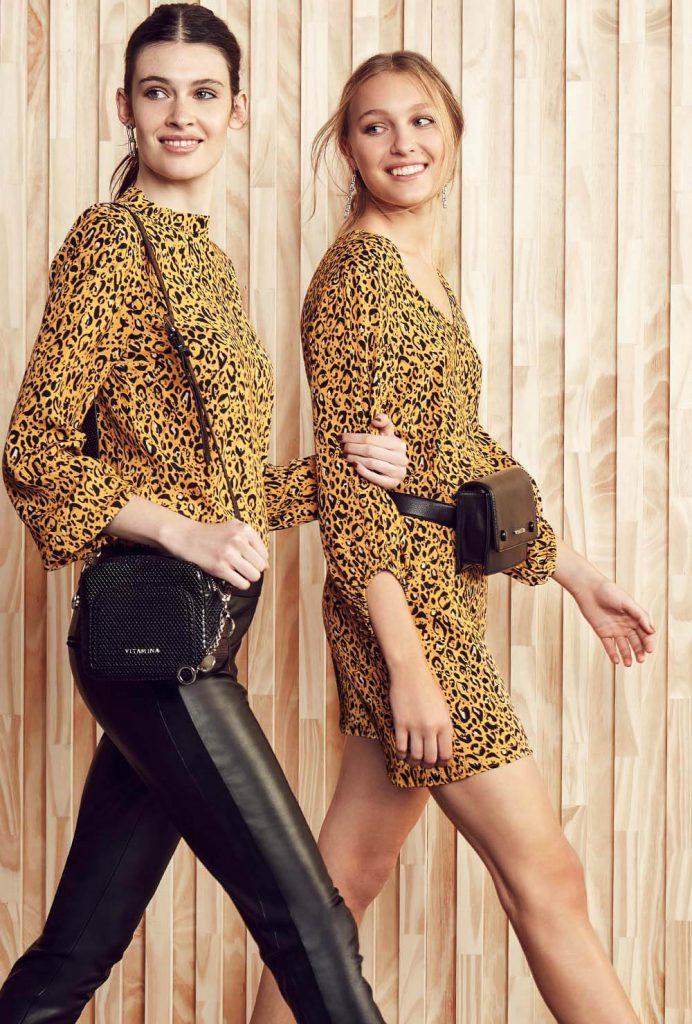 Vitamina otoño invierno 2020 blusa y vestido urbano mangas largas animal print