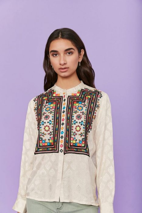 blusa mangas largas bohemia estampada Rapsodia otoño invierno 2020