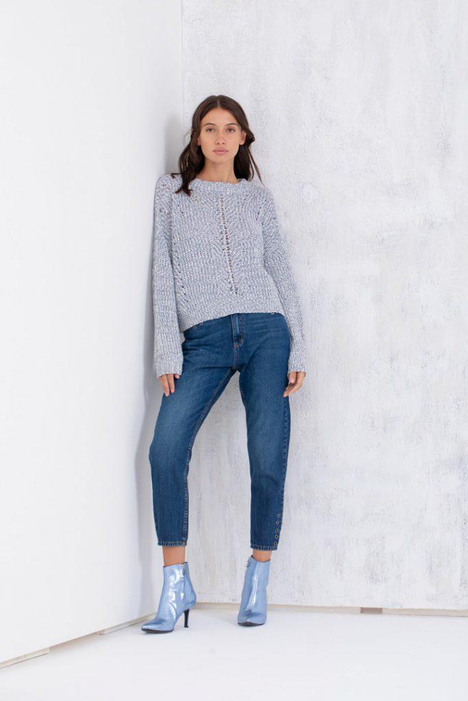botinetas metalizadas jeans y sweaters Uma invierno 2020