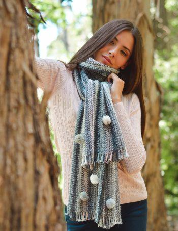 buzo y bufanda mujer tejidos mauro sergio invierno 2020