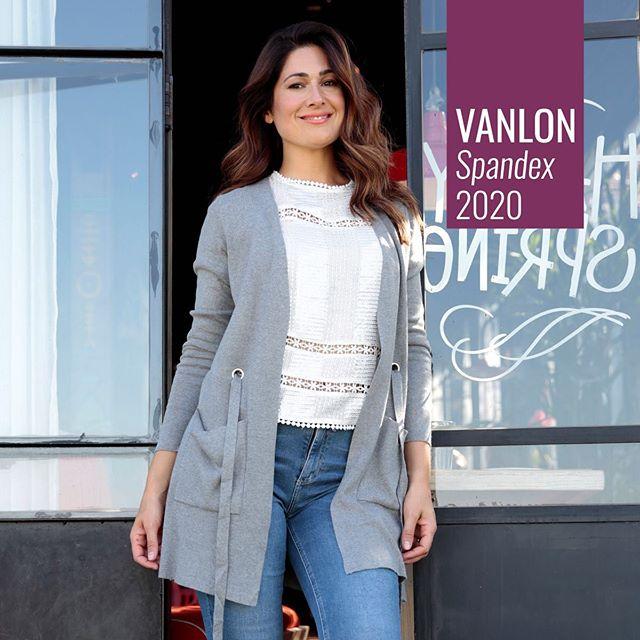 cardigan largo hilo con spandex Vanlon otoño invierno 2020