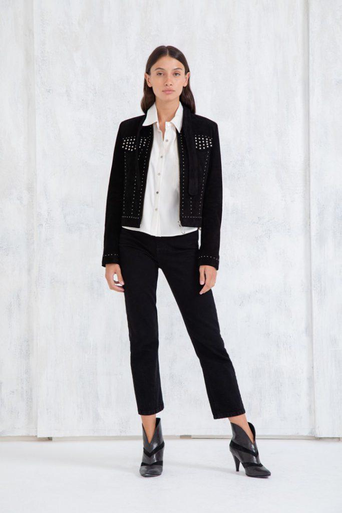 chaqueta y pantalon negro uma invierno 2020