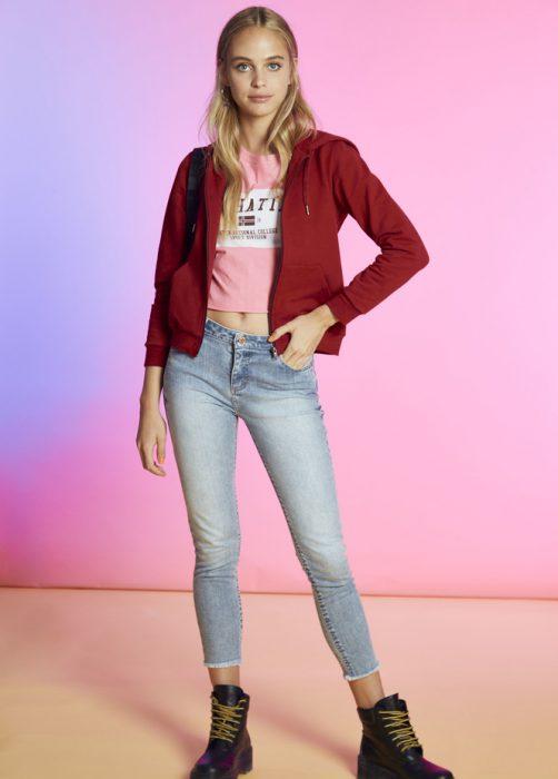 jeans chupin y borcegos como quieres que te quiera invierno 2020