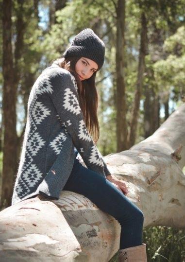 saco con diseños tejidos mujer tejidos mauro sergio invierno 2020