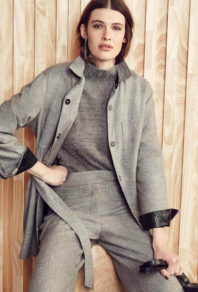 traje de mujer con trench Vitamina otoño invierno 2020
