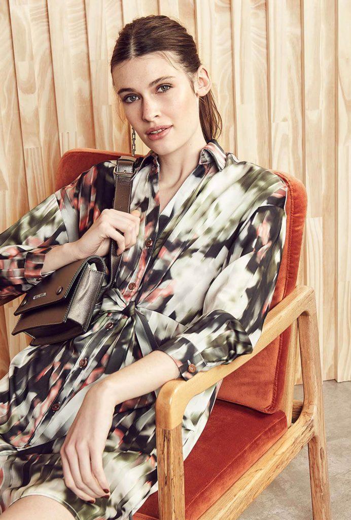 vestido camisero batik mangas largas Vitamina otoño invierno 2020