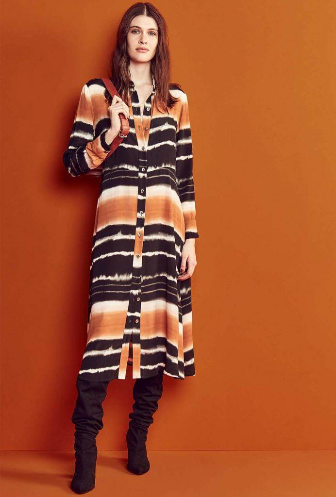 vestido camisero estampado mangas largas Vitamina otoño invierno 2020