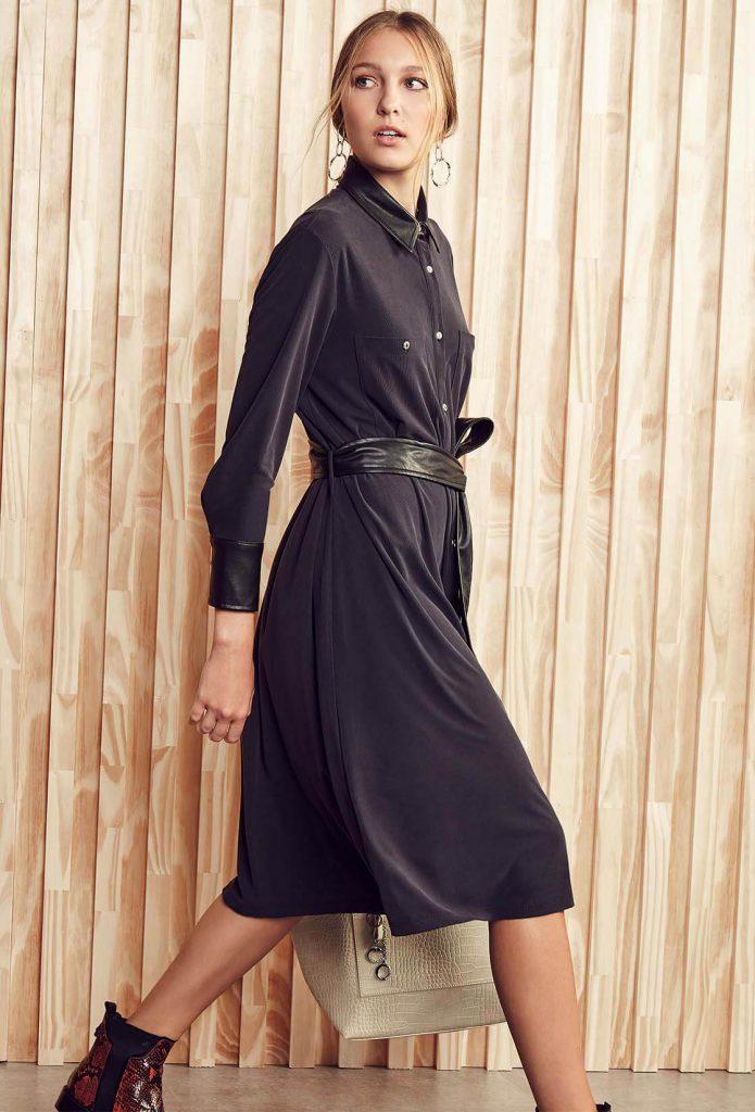 vestido camisero mangas largas Vitamina otoño invierno 2020
