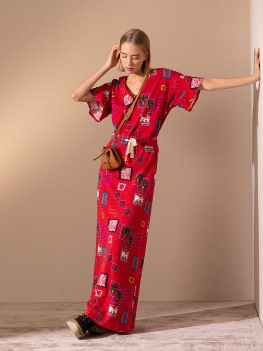 vestido largo fibrana para el dia jazmin Chebar invierno 2020