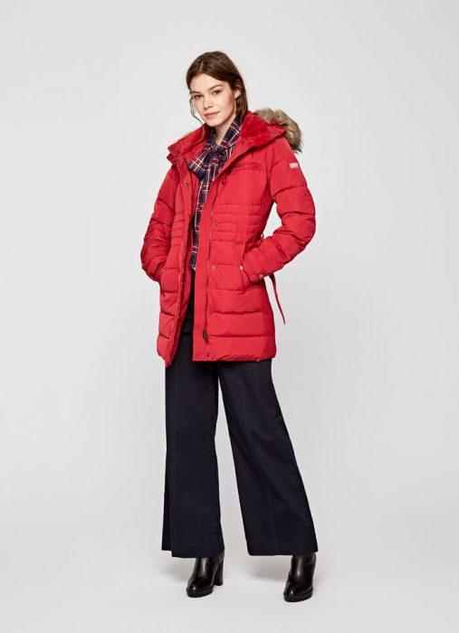 Campera abrigada roja para mujer invierno 2020 Pepe jeans