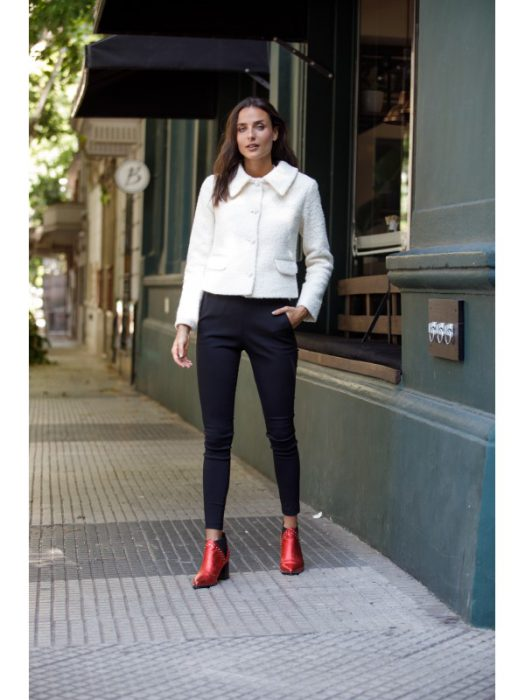 blazer tweed blanco brasco invierno 2020