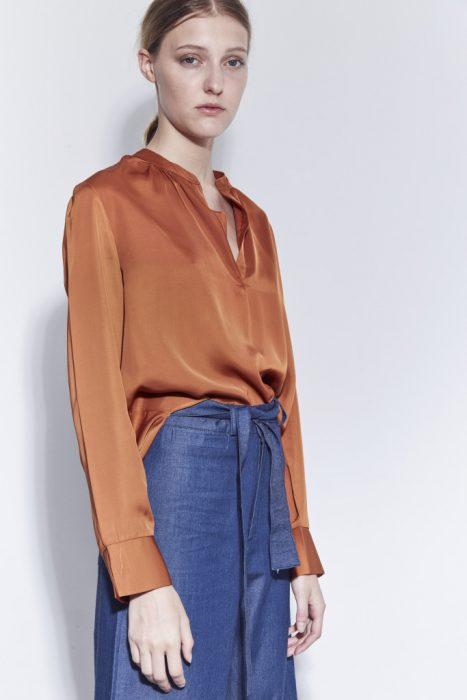 blusa de seda mangas largas bled otoño invierno 2020