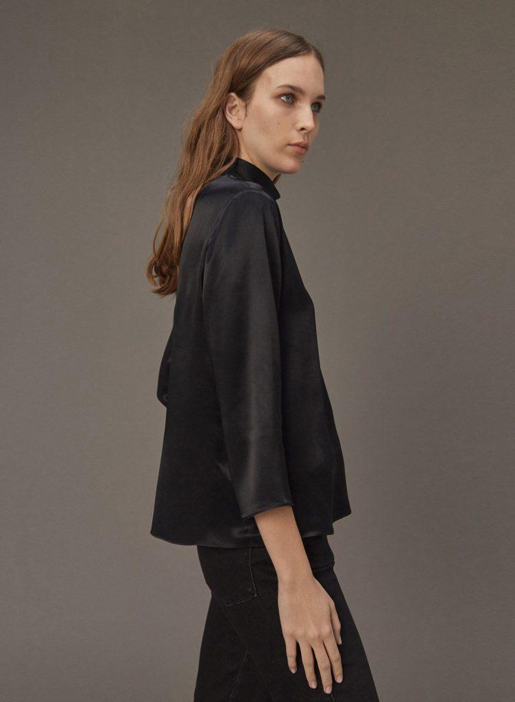 blusa polera de seda Etiqueta negra mujer invierno 2020