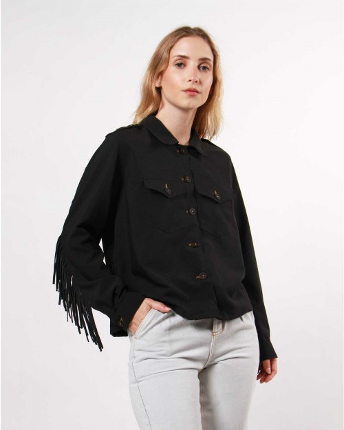 campera jeans negra invierno 2020 Wanama