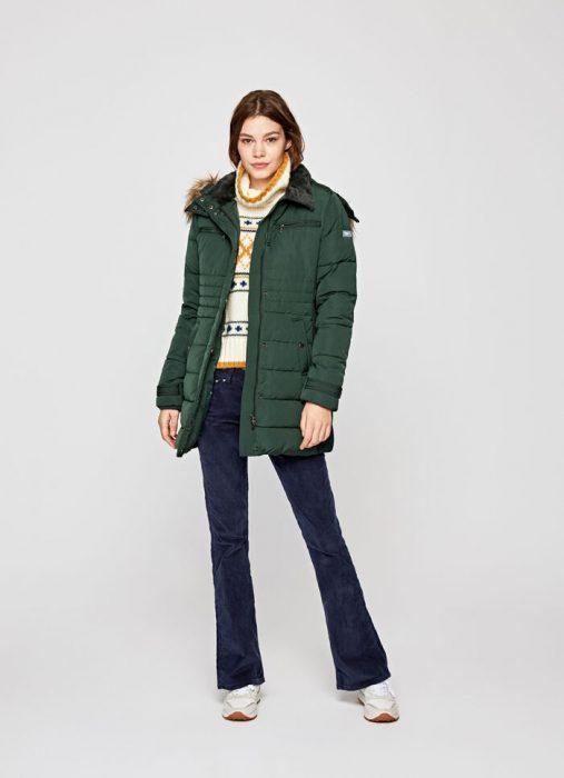campera verde bosque para mujer invierno 2020 Pepe jeans