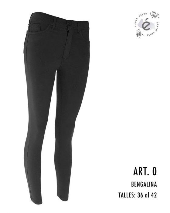 jeans chupin negro Ecole otoño invierno 2020
