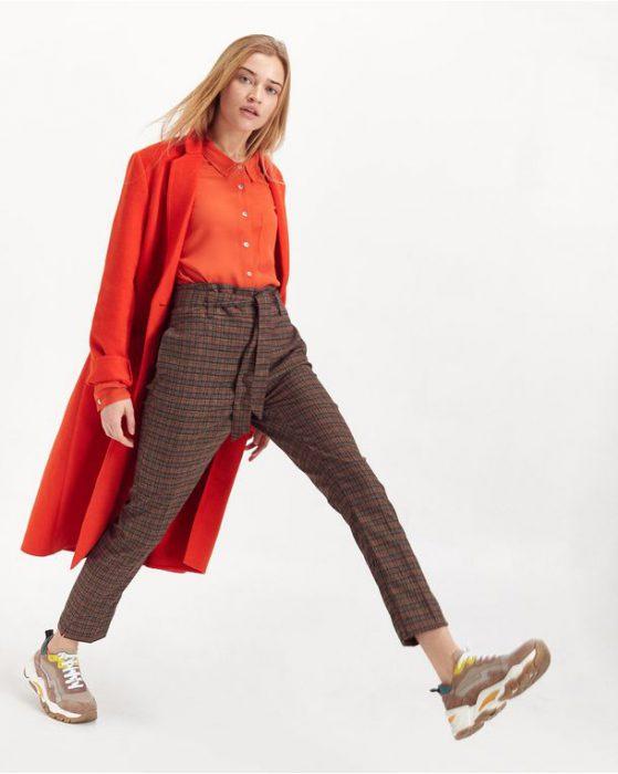 panalon a cuadro y saco estilo blazer para señoras invierno 2020 PORTSAID
