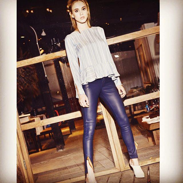 pantalon de cuero y blusa Pura pamapa invierno 2020