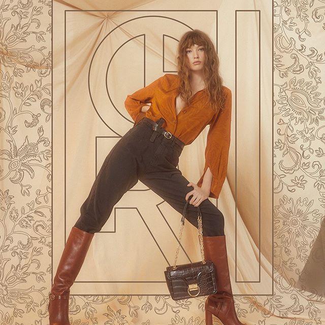pantalon tiro algo y blusa mangas largasotoño invierno 2020 maria Cher 1