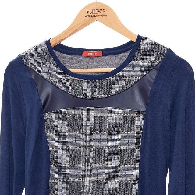 remera azul y gris mangas largas invierno 2020 Vulpes indumentaria