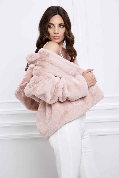 saco polar simil piel sintetica Naima otoño invierno 2020