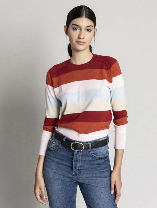 sweater a rayas asterisco invierno 2020