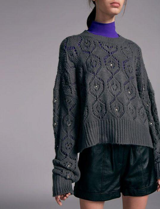 sweater calado Ginebra invierno 2020