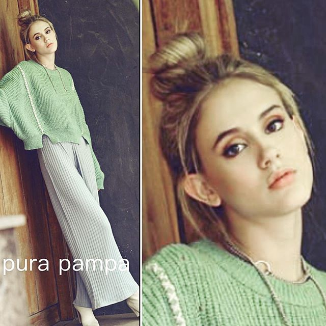 sweater holgado y palazo Pura pamapa invierno 2020