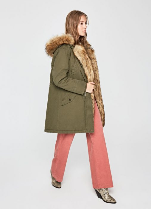 tapado con pelo sintetico para mujer invierno 2020 Pepe jeans