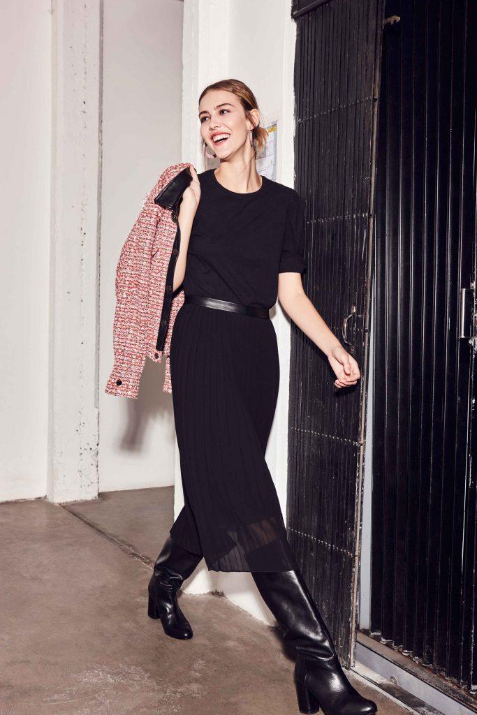 vestido negro para el dia invierno 2020 Clara Ibarguren