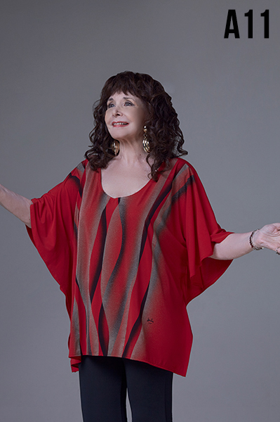 blusa poncho talles grandes Loren otoño invierno 2020