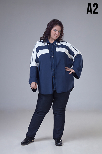 camisa para señoras en talles grandes Loren otoño invierno 2020