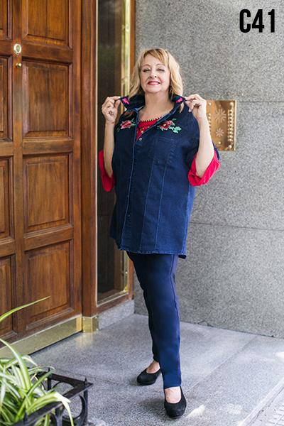camisas y jeans en talles grandes Loren otoño invierno 2020