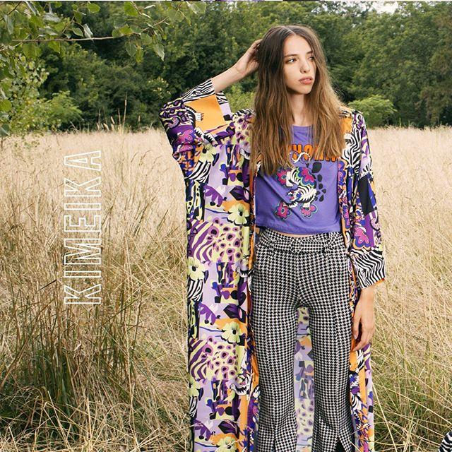 kimono largo estampado Kimeika invierno 2020