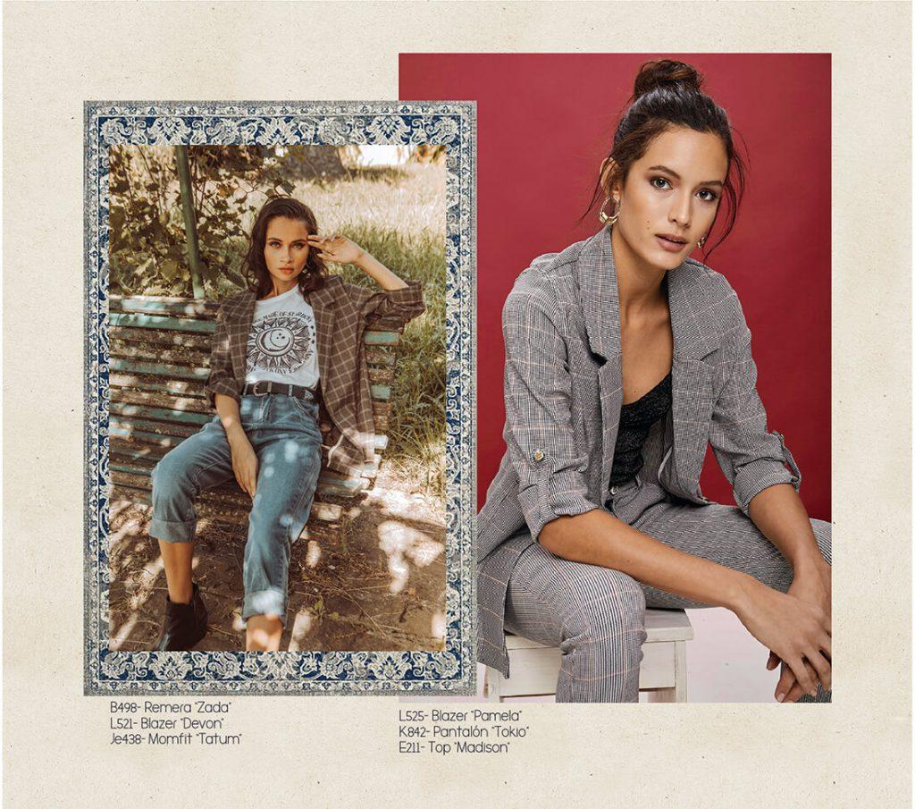 look boho con blazer y jeans rimmel otoño invierno 2020