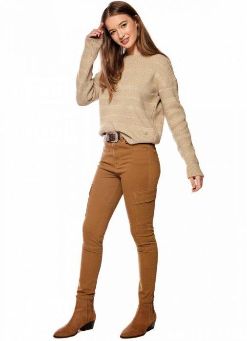 pantalon gabardina sweater mujer otoño invierno 2020 by Melocoton