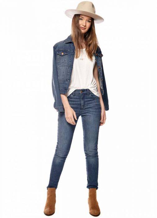 pantalon y campera de jeans otoño invierno 2020 by Melocoton