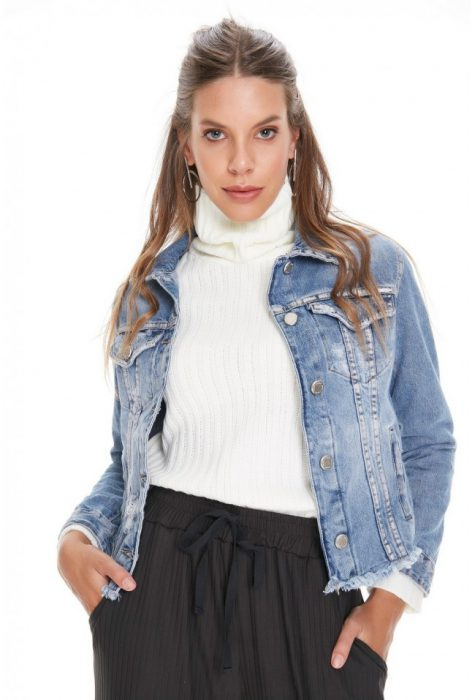 polera con campera jeans invierno 2020 Sweet