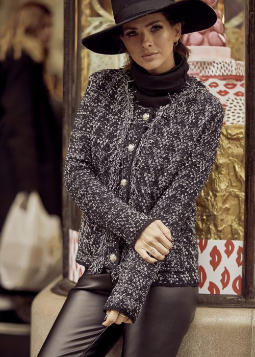 saco tweed y calza engomada Vars otoño invierno 2020