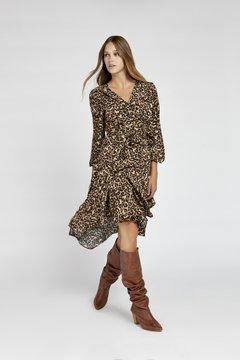 vestido animal print urbano vesna invierno 2020