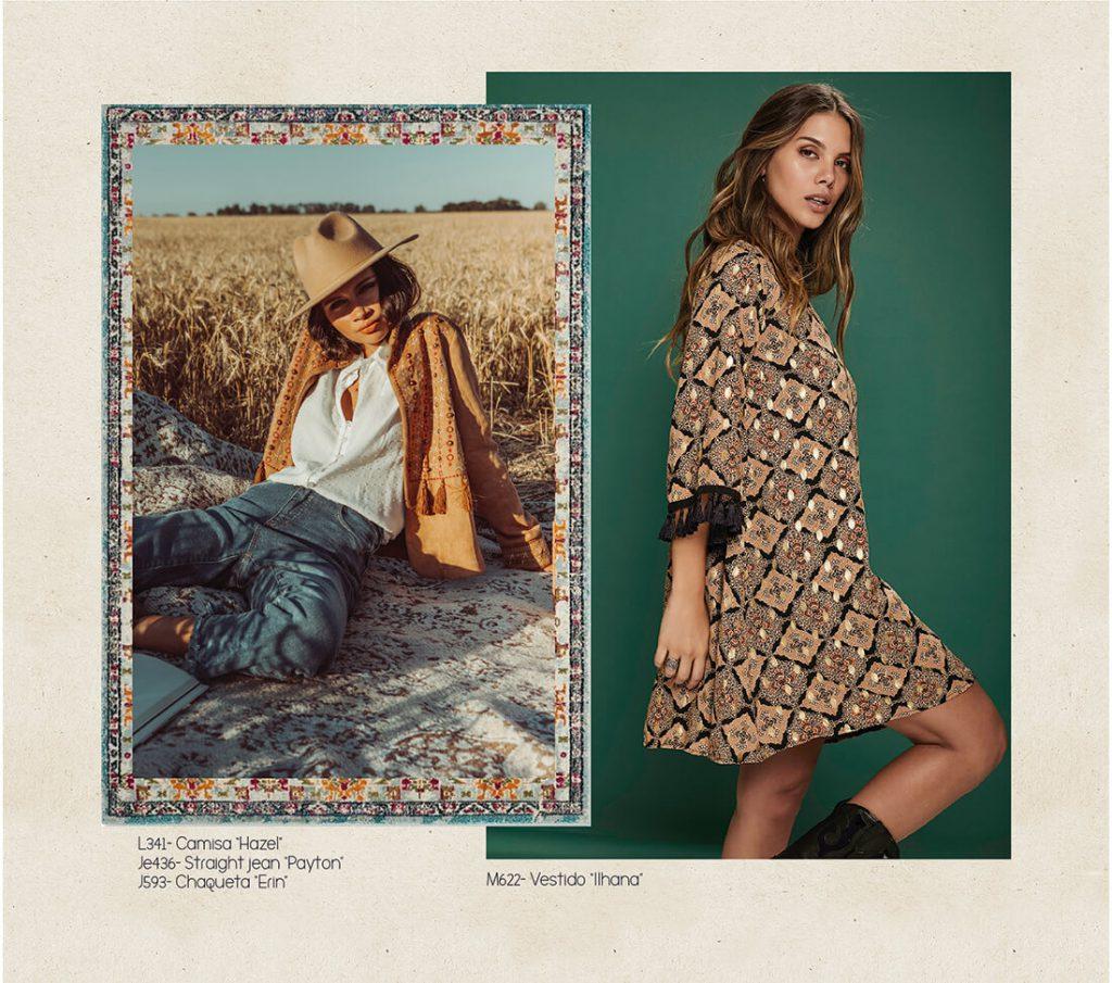 vestido corto para el dia boho chic rimmel otoño invierno 2020