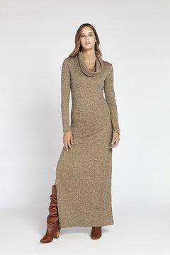 vestido largo tejido vesna invierno 2020