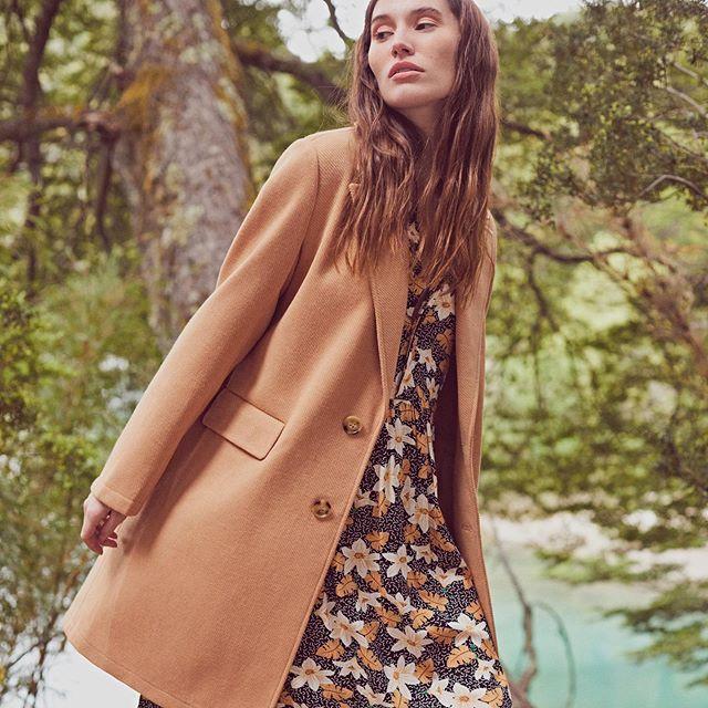 vestido urbano con saco de paño Le Utthe invierno 2020