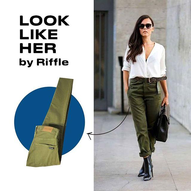 pantalon de gabardina verde Riffle otoño invierno 2020