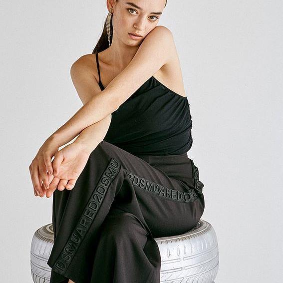pantalon negro palazzo juvenil Rie invierno 2020