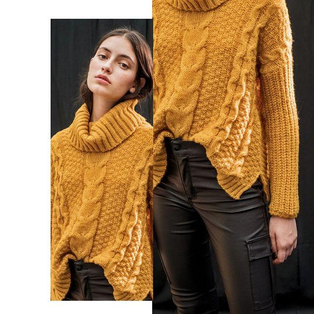 polera tejida lana juvenil y pantalon engomado inversa invierno 2020