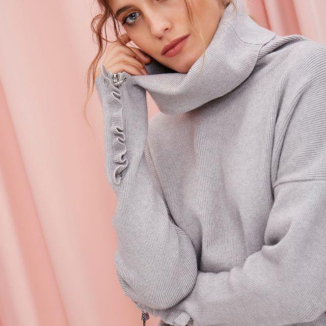 poleron abrigado juvenil MillieTejidos de moda invierno 2020