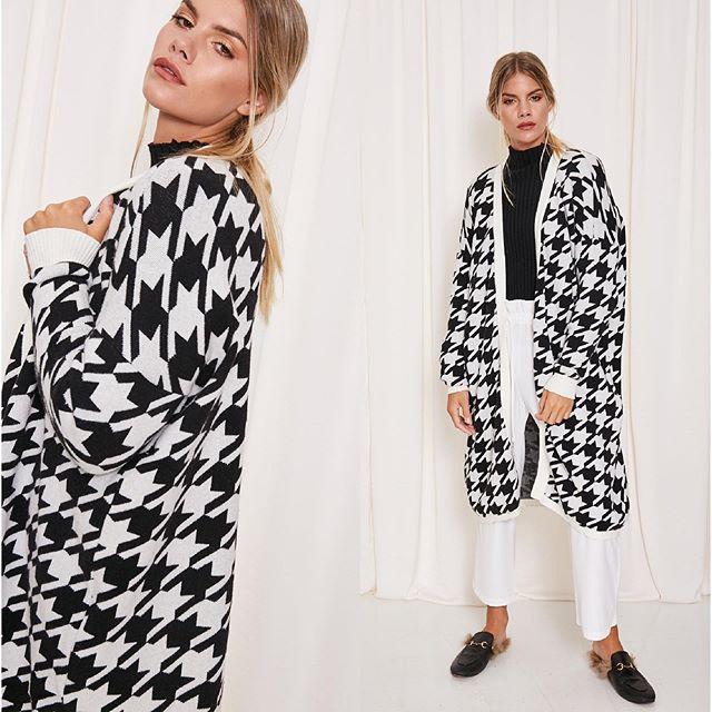 saco largo a cuadros MillieTejidos de moda invierno 2020