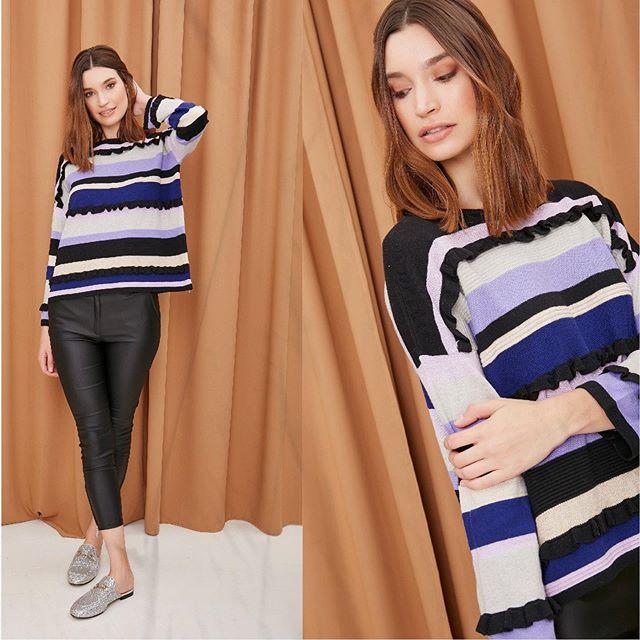 sweater a rayas MillieTejidos de moda invierno 2020