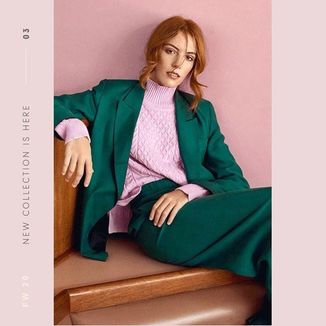 sweater polera con traje MillieTejidos de moda invierno 2020